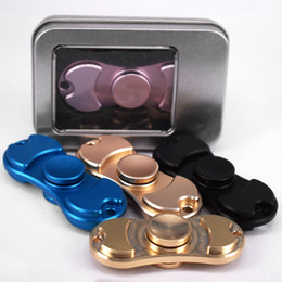 Wholesale Metal Finger Boxing - Metal HandSpinner Fingertips Spiral Fingers Gyro Aluminum toys Steel Bearings Acrylic Hand Spinner with Retail box