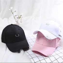 Wholesale Wholesale Personalized Baseball Hats - Summer Hat Ladies Ring Hip Hop Personalized Shade Hat Sunscreen Baseball Cap Korean Version of The Cap Wholesale