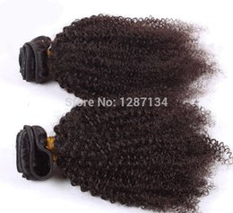 Wholesale 5a Grade Double Brazilian Hair - natural color hair weaves grade 5a+ unprocessed virgin brazilian afro kinky curly hair 1pc lot 100% human remy brazilian hair