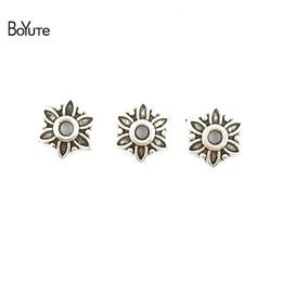 2019 cônes de perles BoYuTe (400 Pièces / Lot) 7 * 7 MM Vintage Alliage de Zinc Matériaux Antique Bronze Argent Plaqué Perle Caps pour Diy Bijoux Makings Conclusions