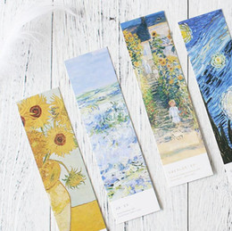 Wholesale Museum Art - 30 pcs pack Art Museum Bookmark Paper Cartoon Animals Bookmark Promotional Gift Stationery dual Note Message