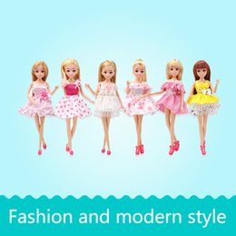 Wholesale Dolls Baby Clothes - Lelia Fashion Modern Dress Wear Clothes Dolls Gifts For Baby Girls