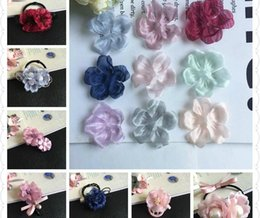Wholesale Mexican Headbands Flower - New Arrived Colorful Microfiber Cartoon Small Peach Flowers Slices shape Handmade Floral Diy Jewelry Decoration Materials