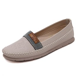 Wholesale Ladies High Quality Slippers - High Quality New Women PU Leather Flats Slippers Candy Colors Lady Ballerina Casual Shoes Spring and Autumn Flats Women