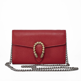 Wholesale American Cows - 2017 European and American summer women's chain bag envelopes with cow belt and the purse handle bag