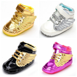 Wholesale ties for toddlers - fashion baby boy girl shoes Toddler shoes First walkers kids infant casual shoes 4 colors for spring autumn winter