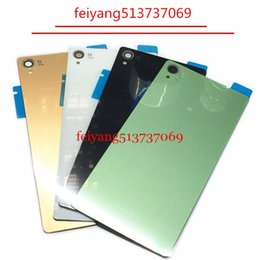Wholesale Rear Case - A quality Housing Battery Cover Case for Sony Xperia Z3 D6603 back glass Z3 D6603 Rear Battery Door Back Housing cover