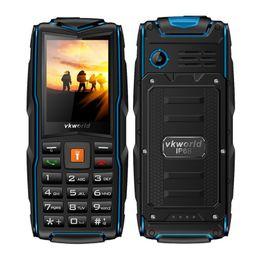 "Wholesale Three Sim Cards - VKworld New Stone V3 2.4"" 3000MAH Three Sim Card Waterproof ShackProof Anti-dust IP68 Outdoor Mobile Phone 2G GSM FM Radio Torch Smartphone"