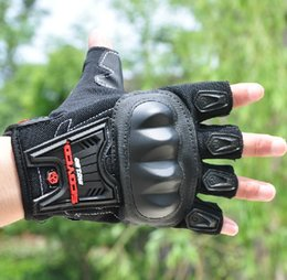 Wholesale Advance Gloves - Wholesale- 2016 Fashion SCOYCO MC12D MOTO racing gloves Motorcycle advanced protective gloves off-road motorbike glove black color M L XL