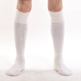 calze nere d'epoca Sconti Uomo Vintage Hose Large Sporran Medievale adulto Kilt scozzese Calzini New Knee Length Calze bianco / nero