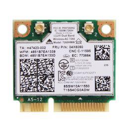 Carta mini pci del bluetooth online-All'ingrosso - Dual Band per IBM Thinkpad Intel Wireless-AC 7260 7260HMW 802.11ac Mini PCI-E Wifi + Bluetooth 4.0 Scheda Wlan FRU 04X6090