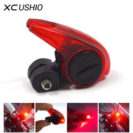 Wholesale Led Lights For Bicycles - Wholesale- Bicycle Brake Light Safety Road Bike Warning LED Light Folding MTB Cycling Suitable for V Brakes Automatic Control