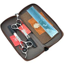 Ciseaux à main gauche en Ligne-5.5inch 6.0inch Meisha gaucher Professional Ciseaux Set Cutting amincissement ciseaux JP440C cheveux ciseaux pour Salon de coiffure, HA0125