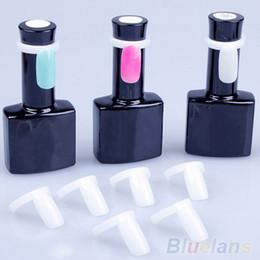 Wholesale Nail Polish Display Rings - Wholesale-Hot50 Pcs Polish UV Gel Color Pops Display Nail Art Ring Style Nail Tips 2MPT 2TTV 7D37 8FXK