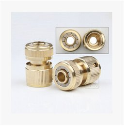 Wholesale Pipe Faucet - Wholesale- Car Clean Water Pipe Metal Copper Connector Adapters For Faucet Adapter Auto Wash Water Gun Tail Connectors 1pcs