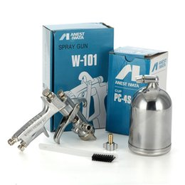 Wholesale Hvlp Spray - Free Shipping ANEST IWATA HVLP W-101 Gravity Feed Paint Spray Gun 1.3mm  1.5mm 1.8mm with Cup