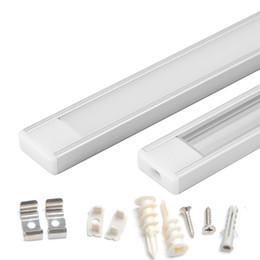 1m 1.5m 2m Tira de LED perfil de aluminio para 5050 5630 Barra de luz LED LED barra de luz carcasa de canal de aluminio con clips de tapa de cubierta desde fabricantes