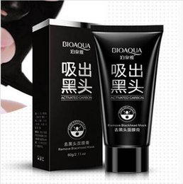 Wholesale Nose Pore Suction - BIOAQUA Facial Blackhead Remover Deep Cleaner Mask Nose Mask Suction Anti Acne Treatments Black Head Mask 60g