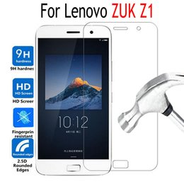 Wholesale Lenovo Mobiles Covers - Wholesale- Premium Tempered Glass Film For Lenovo ZUK Z1 Screen Protector Cover Mobile Phone Protective Film Case with Clean Tools
