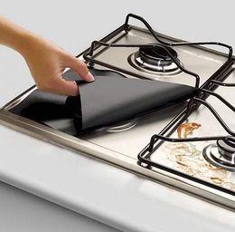 Wholesale Heat Gas - Reusable Teflon Gas Stove Protectors Cover Liner Reusable Non Stick Silicone Dishwasher Safe