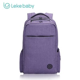 Wholesale Moms Bags - Wholesale- LEKEBABY Baby Stroller Mom Mummy Travel Nappy Diaper Bag Backpack Tote Diaper Organizer Baby Changing Nappy Bags