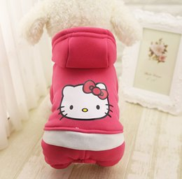 Wholesale Fleece Coats For Dogs - Autumn Winter Hello Kitty Pet Clothes Product Supply Coat for Small Dogs Chihuahua Superhero Costume Fleece Puppy Suit Pet Supplies XS-XXL
