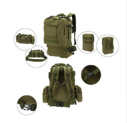 Wholesale Vintage Bowls - 50L Outdoor Military Molle Tactical Bag Rucksack Backpacks Vintage Hiking Camping Camouflage Water Resistant Bags 600D