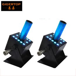 Wholesale Connect Plug - Freeshipping 2XLot Led Stage Effect Machine New Co2 Machine 12x3W RGB Color Mixing Gas Plug IN OUT Connect DMX 7 Channels 300W 100V 220V