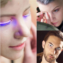 Wholesale Glitter Machine - 2017 New Hot F.Lashes Interactive LED Eyelashes Fashion Glowing Eyelashes Waterproof for Dance Concert Christmas Halloween Nightclub Party