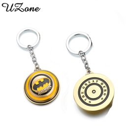 Wholesale Vintage Superheroes - UZone Superhero Marvel Batman Keychain Vintage Batman DC Anime Key Chains Trinket Super Hero Key Rings