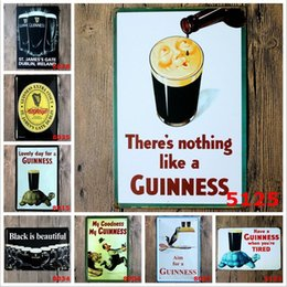 Wholesale Guinness Pub Sign - Black Beer My Guinness Vintage Tin Signs Retro Metal Sign Antique Imitation Iron Plate Painting Decor Wall Of Bar Cafe Pub Shop Restaurant