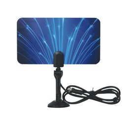 Wholesale Hd Tv Indoor - Digital Indoor TV Antenna Outdoor hdtv Antennas HDTV DTV HD VHF UHF Flat Design High Gain EU US Plug V560