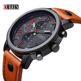 Wholesale Curren White - Relogio Masculino Fashion Montre Homme Reloj Hombre Quartz-Watch Curren Male Watch Leather Wristwatches Men Curren Watches