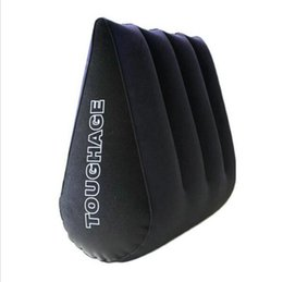 Wholesale Toughage Furniture - TOUGHAGE Sex Pillow Inflatable Sex Furniture Triangle Magic Wedge Pillow Cushion Erotic Products Adult Game Sex Toys for Couples