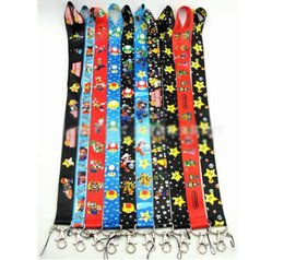 Wholesale Key Badges - Super Mario Bros Lanyard Keychain Holder Key Card ID Holders Badge Neck Lanyard String Straps