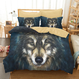 Wholesale Wolf Bedding Sets Twin - Europe 3D Painting Wolf Bedding Set Sanding Mandala Bedding Duvet Cover 3pc Include Bed Cover Pillowcase