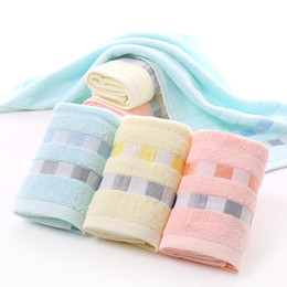 Wholesale Wholesalers For Baby Baths - 3 Piece lattice Printing Embroidery 100% Cotton Face Towel For Adults Women Men Rectangle 73X33cm In Bathroom Factory Direct