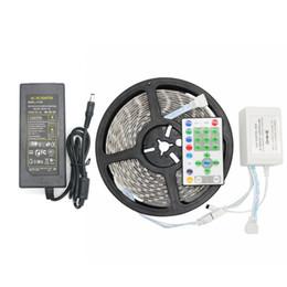 Wholesale Dc Running - 5M SMD 5050 54LEDs M RGB Running Horse Race Strip IP65 RGB LED Strip + 25key IR Controller +1pcs 12V 5A Power Adapter