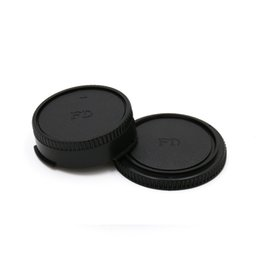 Wholesale Fd Free - Wholesale-Camera Lens Body Cover + Rear Lens Cap Hood Protector for FD Camera Lens Protect Caps Holder Keeper free shipping