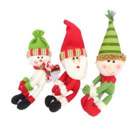 Wholesale Towel Wine - Red Wine Bottle Hug Santa Claus Snowman for Home Christmas Decoration Towel Holder Wine Bottle Holder Party Decor free shipping