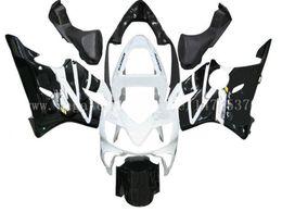 Carrinhos brancos honda f4i on-line-Injecção CBR600F4i carenagens para HONDA CBR600F4i 01 02 03 CBR600 F4i 01-03 2001 2002 2003 carenagem kit # e9j43 branco preto