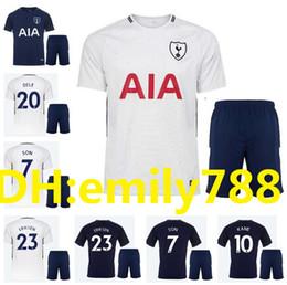 Wholesale Free Soccer Jerseys - 2017 2018 Adult spurs soccerJersey kit 17 18 home away totten soccer jersey kit man soccer kit free shipping uniforms