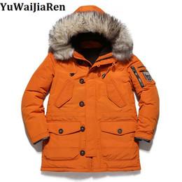 Wholesale Canada Long Down Coat - Wholesale- 2017 New Arrival Canada Winter Jackets Men Duck Down Coat Fashion Thick Warm Solid Windbreaker Down Parka Hooded Coat