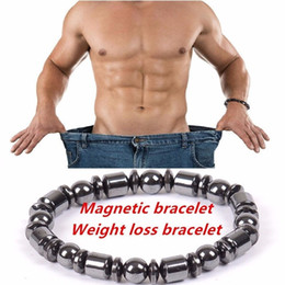 Wholesale Magnet Stones - Healthy Magnet Bracelet Couple Biology Magnetic Health Weight Loss Black Stone Bracelet