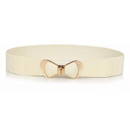 Wholesale Vintage Stretch Belts - Wholesale- Women's Metal Vintage Elastic Stretch Gold Bowknot Waist Belt Waistband