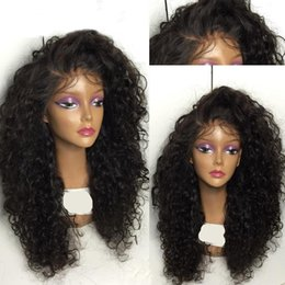 Wholesale Cheap Lace Wigs Free Shipping - Top Cheap Synthetic Wig Heat Resistant Afro Kinky Curly Synthetic Lace Front Wig epacket free shipping