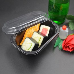 Wholesale oil sealing - Black Transparent Disposable Lunch Boxes Sealed Hygiene Fast Packing Box Waterproof Oil Proof Salad Meal Container 0 65zq1