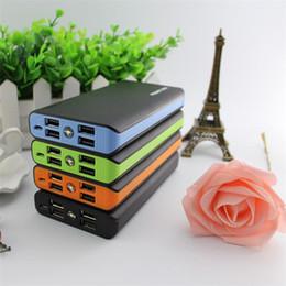carregador de telefone de alta capacidade Desconto Alta capacidade 20000 mah banco de potência 4 porta usb carregador de bateria de backup externo com caixa de varejo para o telefone móvel frete grátis