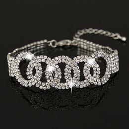 Wholesale Wedding Owns - Own factory made Bracelete Pulseiras Austrian Crystal Womens Bracelet Jewelry Fashion Wedding Bracelets Accessories for women B014