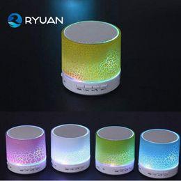 Wholesale Flash Drive Readers - Smart LED Light Crack Mini Wireless Bluetooth Speaker Portable Bluetooth Stereo Speaker Support TF Card USB Flash Drive
